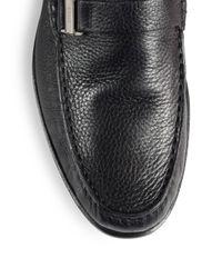 Bally | Black Villeneuve Shearling-lined Leather Mocassins for Men | Lyst
