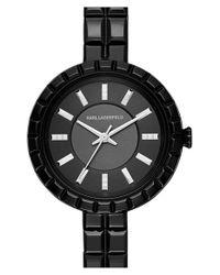 Karl Lagerfeld | Black 'geometrik' Bracelet Watch | Lyst