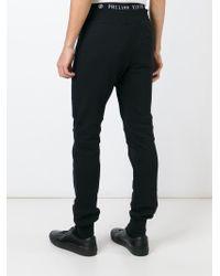 Philipp Plein | Black 'light' Track Pants for Men | Lyst