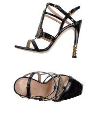 Calvin Klein - Black Sandals - Lyst