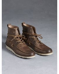 John Varvatos | Brown Lugger Boat Boot for Men | Lyst