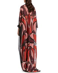 Gucci - Red Stained Glass Jacquard Caftan - Lyst