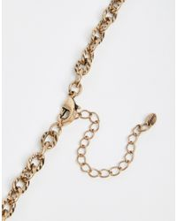 Oasis - Metallic Pave Arrow Head Collar Necklace - Lyst