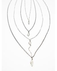 Free People | Metallic Waterfalls Necklace | Lyst