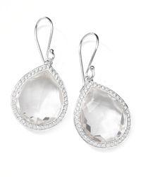 Ippolita - Metallic Rock Candy Diamond Quartz Teardrop Earrings - Lyst