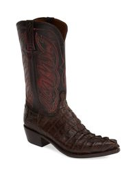 Lucchese | Black 'aiden' Western Boot for Men | Lyst