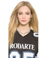 Rodarte Metallic Padlock Chain Necklace