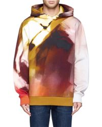 Givenchy Multicolor Paint Print Hoodie for men