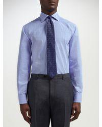 Paul Costelloe Blue Graph Check Modern Fit Shirt for men