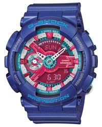 G-Shock | Women's Analog-digital Blue Resin Strap Watch 49x46mm Gmas110hc-2a | Lyst