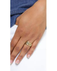 Snash Jewelry Metallic Taco Ring - Gold