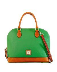Dooney & Bourke Green Leather Zip Satchel