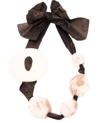 Antonella Filippini | Black Beaded Bow Ribbon Necklace | Lyst