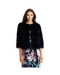 Diane von Furstenberg - Black Talia Fur Coat - Lyst