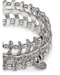Philippe Audibert | Metallic Concord Weave Swarovski Crystal Bracelet | Lyst