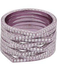 Repossi | Purple Eight-row Antifer Ring | Lyst