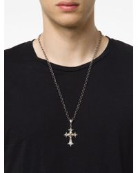 Roman Paul - Metallic Cross Pendant Necklace for Men - Lyst