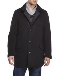 Sanyo - Black Wool-Blend Getaway Coat for Men - Lyst