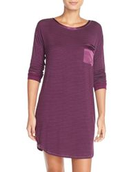 Midnight By Carole Hochman | Purple Front Pocket Sleep Shirt | Lyst