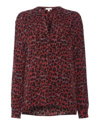 Part Two Blurred Print Shirt Top