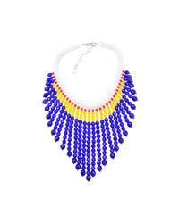 Helene Zubeldia | Purple Masai Glass Beads Collar Necklace | Lyst