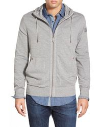 BOSS Orange | Gray 'ztylo' French Terry Zip Hoodie for Men | Lyst