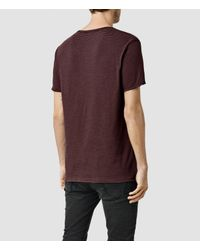 AllSaints - Blue Warn Stripe Crew T-shirt Usa Usa for Men - Lyst