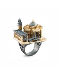 Aenea | Metallic Venice City Ring | Lyst