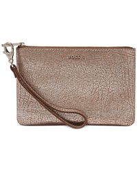 Fossil - Metallic Sydney Leather Small Wristlet Pouch - Lyst