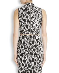 Elizabeth and James White Aisling Monochrome Cropped Printed Top