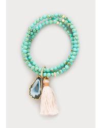 Bebe Blue Howlite Stretch Bracelet