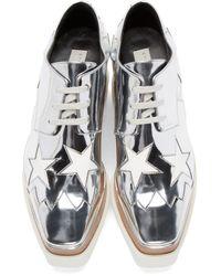 Stella McCartney - Gray 'elyse' Star Shoes - Lyst