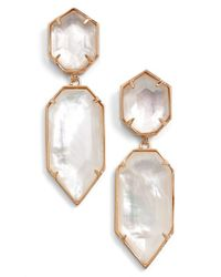 Kendra Scott | Pink 'perla' Drop Earrings | Lyst