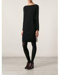 Nude | Black Contrasted Beige Back Dress | Lyst