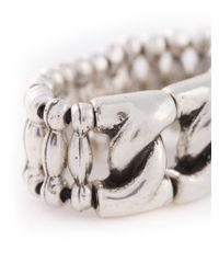 Philippe Audibert - Metallic 'chain S' Ring - Lyst