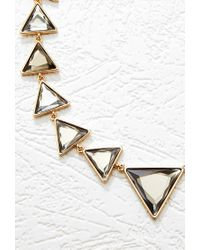 Forever 21 | Metallic Triangle Statement Necklace | Lyst