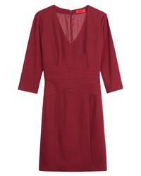 HUGO - Sheath Dress - Red - Lyst