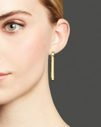 Roberto Coin - Metallic 18k Yellow Gold Plated Sterling Silver Hoop Earrings - Lyst