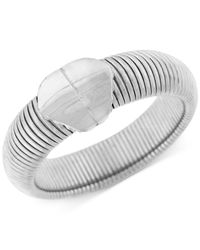 BCBGeneration | Metallic Silver-tone Omega Chain Bangle Bracelet | Lyst