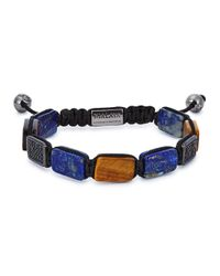 Nialaya - Brown Beaded Cord Bracelet for Men - Lyst
