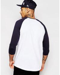 KTZ Blue Ny Yankees Raglan T-shirt for men