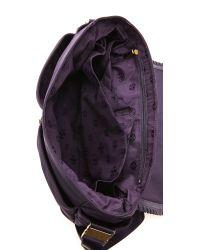 Tory Burch Purple Marion Nylon Baby Bag Blue Ink