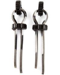Lanvin | Metallic Maripol Single-drop Pearl-effect Earrings | Lyst