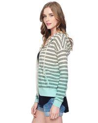 Splendid | Multicolor Stripe Dip Dye Hoodie | Lyst