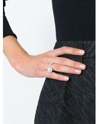 Delfina Delettrez - Metallic Pearl And Diamond 'piercing' Ring - Lyst