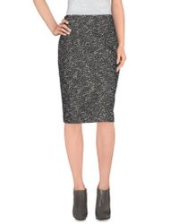 Dior - Black Knee Length Skirt - Lyst