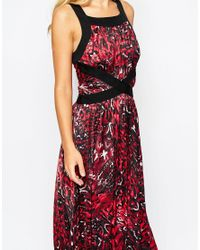 SuperTrash Red Dory Printed Maxi Dress