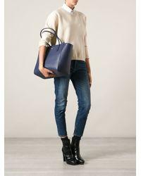 Gucci - Blue Trapeze Shopper Tote - Lyst