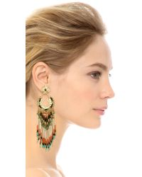Gas Bijoux Multicolor Tassel Earrings - Turquoise Multi