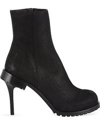 A.F.Vandevorst Black Astwood Suede Heeled Boots